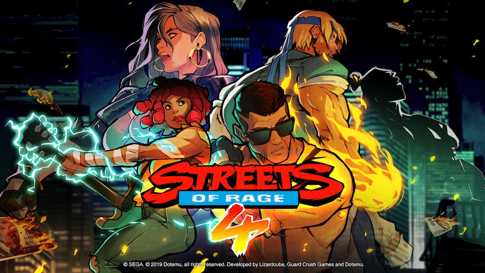 Streets of Rage 4 apresenta a visão e a inspiração em estilo visual desenhado à mão