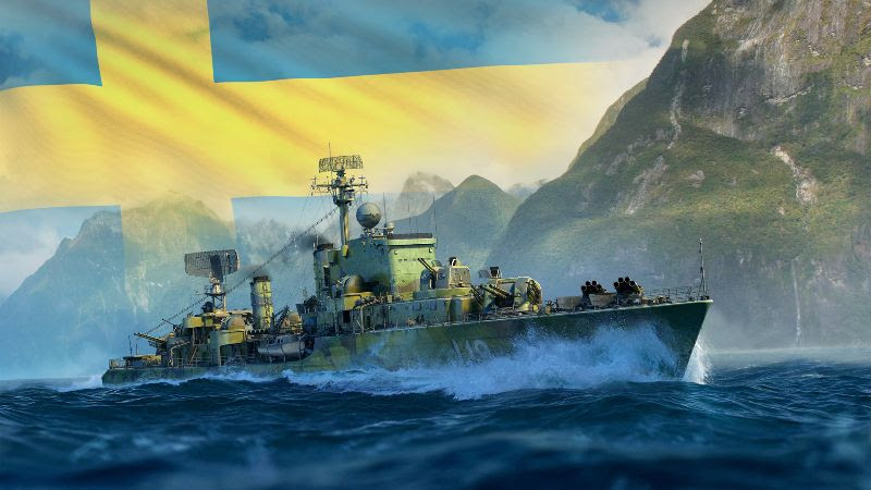 Contratorpedeiros suecos invadem World of Warships