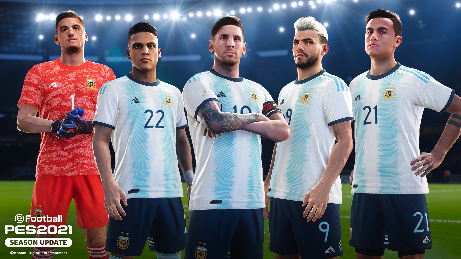 KONAMI anuncia parceria com a Associação Argentina de Futebol como parceiro oficial