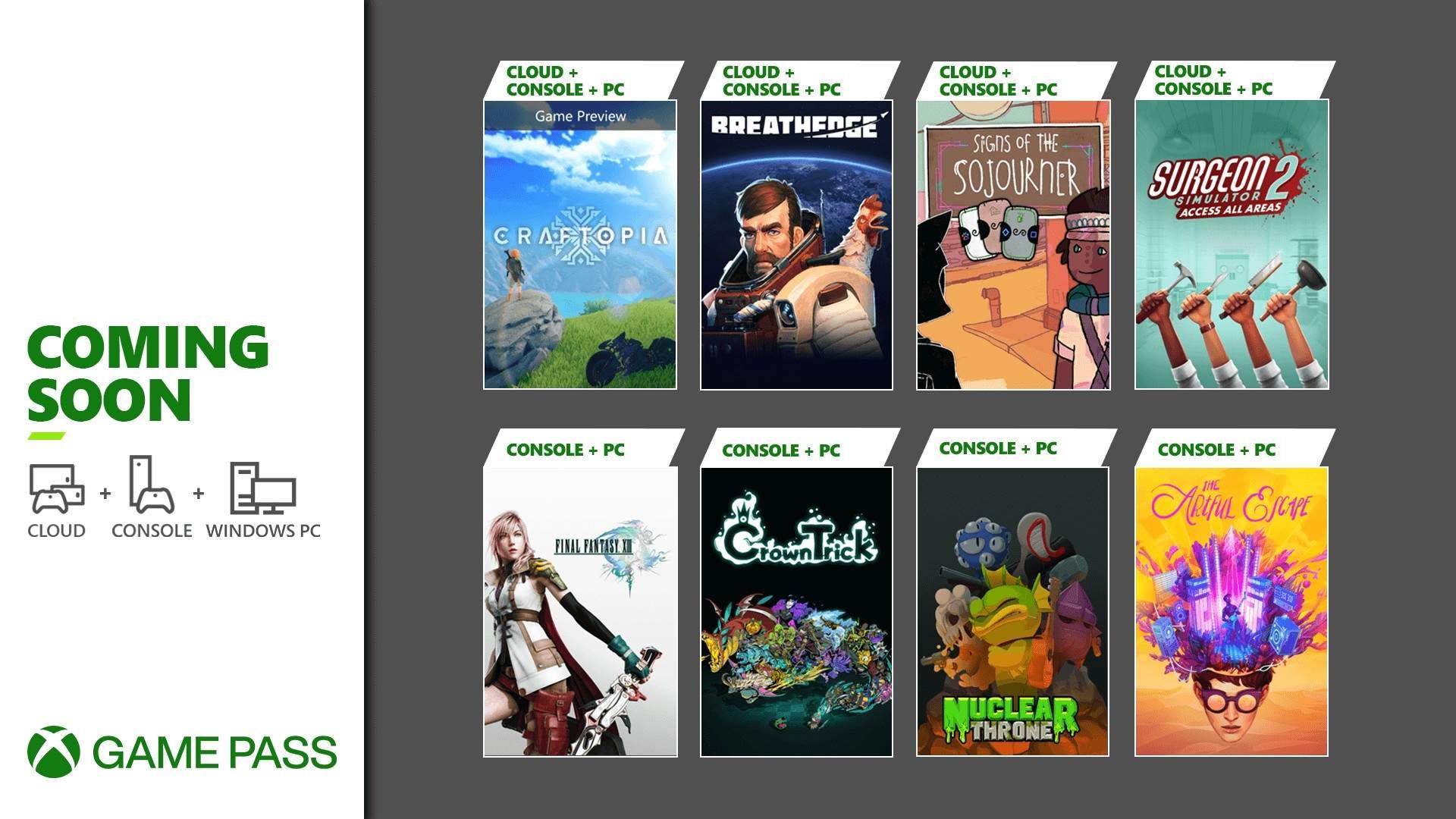 Xbox Game Pass | Novidades de chegadas, saídas e DLCs