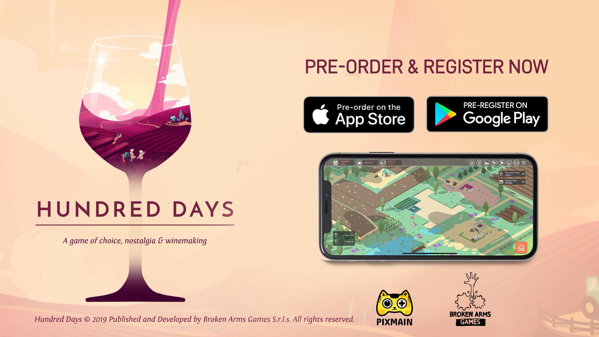 Hundred Days | Aventure-se na produção de vinhos para dispositivos móveis
